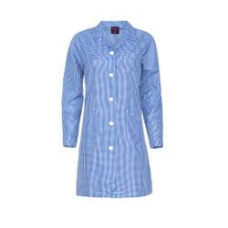 Delantal Cuadrillé Azul Marino Escolar Juvenil Mujer