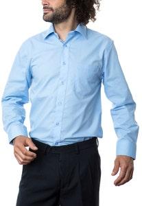 Camisa Lisa Cuello Semi-Italiano