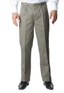 Pantalón Gabardina Clásico Con Pinzas